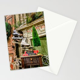 Antique Fireplace Decor Stationery Cards