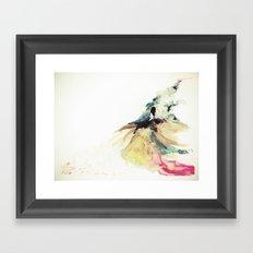 Rainbow dress Framed Art Print