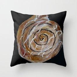 Cinnamon Swirl Bakery Still Life Acrylic Painting Throw Pillow