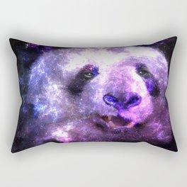 Galaxy Panda Colorful - Pink Edition Rectangular Pillow