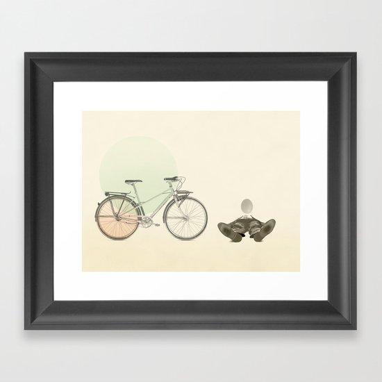 bad egg Framed Art Print