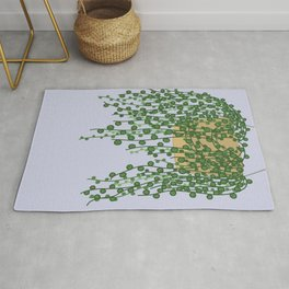 String of Pearls Plant Rug