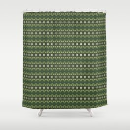 Motif Series : Olive Shower Curtain