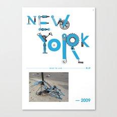 Bike to Life - New York Canvas Print