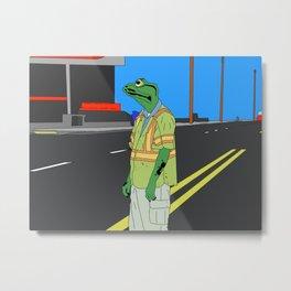 Frog Loneliness Metal Print