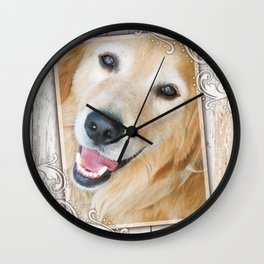 Happy Golden Nugget Wall Clock