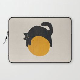 Cat with ball Laptop Sleeve