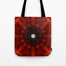 Festive Window Mandala Abstract Design Tote Bag