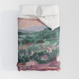 Mountain Homes - Abstract Landscape #11 Comforters
