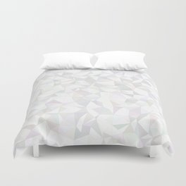 White triangle mosaic Duvet Cover