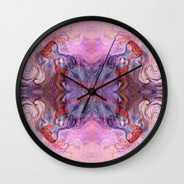 Four fairies at a meeting - rose Wall Clock