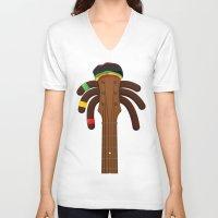 reggae V-neck T-shirts featuring Reggae by Emir Simsek