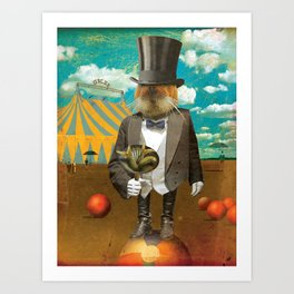 Circus-Circus :: Will Work for Food Art Print