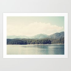 in the shadow of the alps ...  Art Print