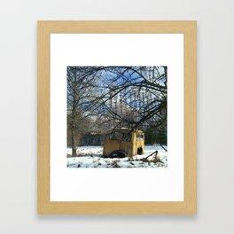 The Russian Woodpecker Framed Art Print