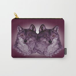 Season of the Wolf - Duet in Magenta Carry-All Pouch