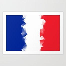 France Flag Cubic Art Print
