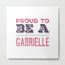 Personalized Name Gabrielle - Birthday Gift Metal Print
