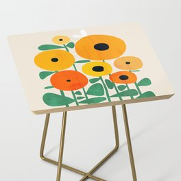 Sunflower and Bee Side Table