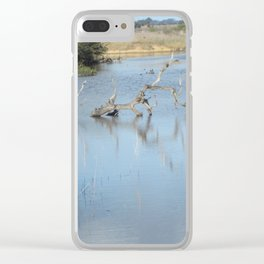 Skeleton Tree In A River Clear iPhone Case