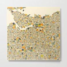 VANCOUVER Map Metal Print