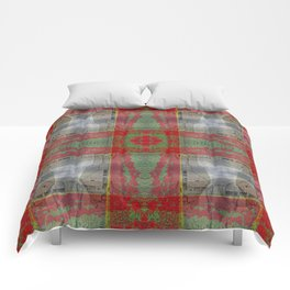 RED TULIPS AND BARN SKAGIT FLATS Comforters