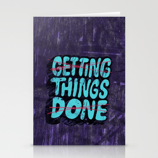 Not Getting Things Done Stationery Cards
