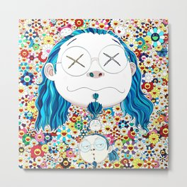 TAKASHI MURAKAMI - Self portrait of the distressed artist Metal Print