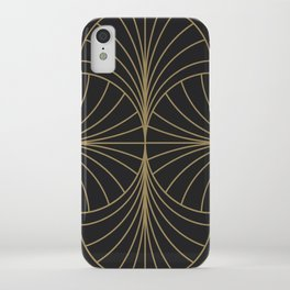 Diamond Series Inter Wave Gold on Charcoal iPhone Case