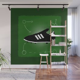 Black Boots are the best football boots Wall Mural