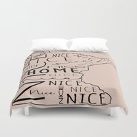 minnesota Duvet Covers featuring Minnesota Nice by MeganAnn