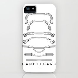 7 Handlebars black iPhone Case