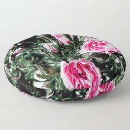 Ruffled Roses Floor Pillow