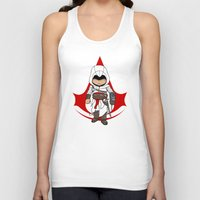 assassins creed Tank Tops featuring Altaïr Ibn-La'Ahad: Assassins Creed Chibi by SushiKitteh'sCreations