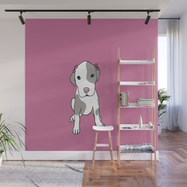 Millie The Pitbull Puppy Wall Mural
