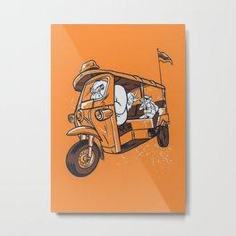 Gorilla Taxi Metal Print