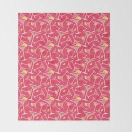 Pink Martinis Throw Blanket
