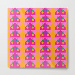Pink Houses Metal Print