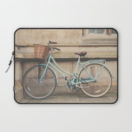 a mint green bicycle in Cambridge, England Laptop Sleeve