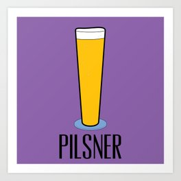 Beer Glasses (Pilsner) Art Print