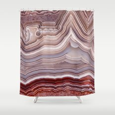Agate Crystal Shower Curtain