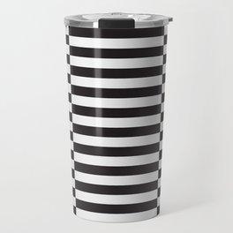 IKEA STOCKHOLM Rug Pattern - black stripe black Travel Mug