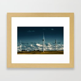 Farming the Wind Framed Art Print