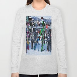 Ski Party - Skis and Poles Long Sleeve T-shirt