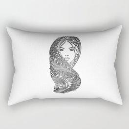 zentangle portrait 2 Rectangular Pillow