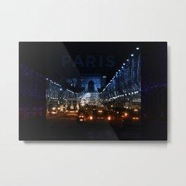 Paris - Arc de Triomphe traffic jam Metal Print