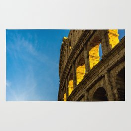 Sunset Over The Roman Colosseum. Rug