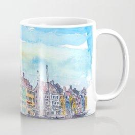 Copenhagen Nyhavn Waterfront Scene in Denmark Coffee Mug