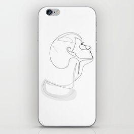 lady ink - single line iPhone Skin