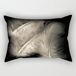 Three feathers in black and white Rectangular Pillow